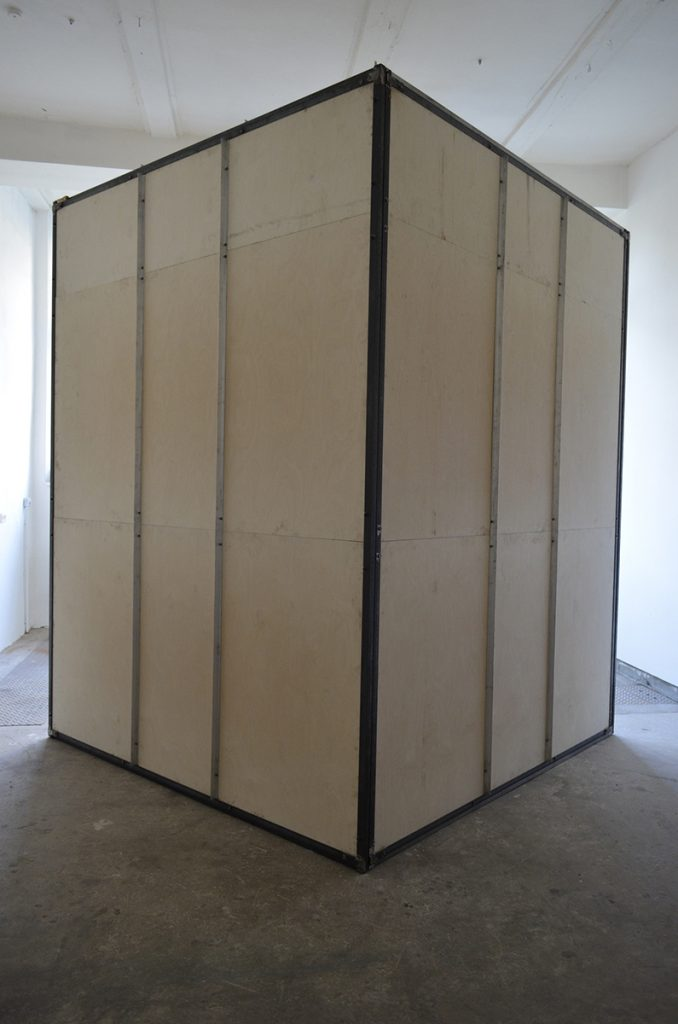 The Cell of the Lines-Steel Prfiles, Multiplex wooden Boards and Steel Sheets-2019-294x234x227 cm 1