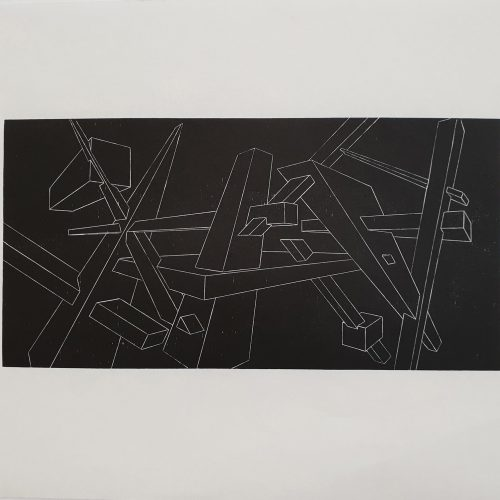 Geometrical Considerations 1-Woodcut Print on Paper-2017-70x50 cm-7 Copies